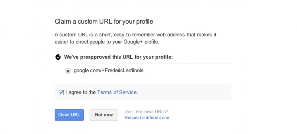 Google+ : Vanity URLs pour de rares privilégiés
