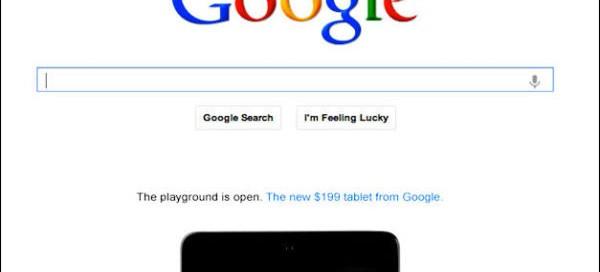 Google : Une publicité animée sur sa page d'accueil