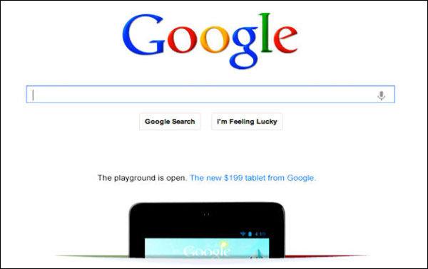 Publicité Google Nexus 7