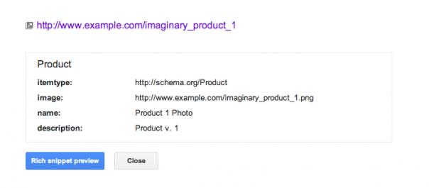 Google Webmaster Tools : Données structurées - Page