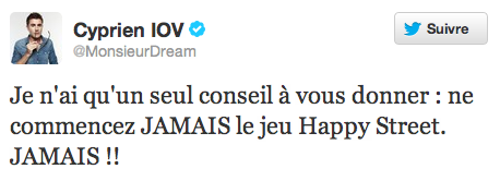 Happy Street : Monsieur Dream sur Twitter