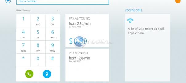 Skype : Les premières captures de l'interface Metro/Modern UI