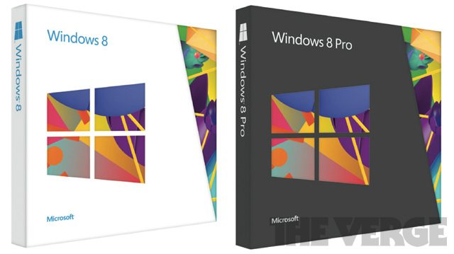 Windows 8 : Design des boites de commercialisation