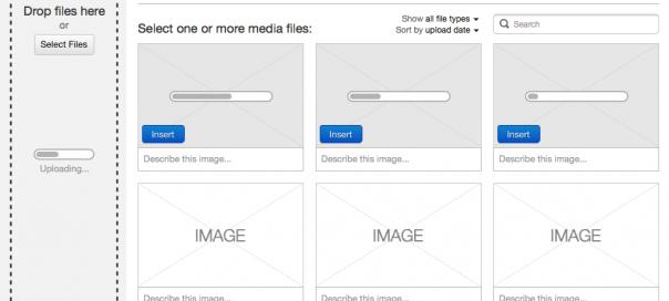 WordPress 3.5 : Nouvelle gestion des médias en maquette