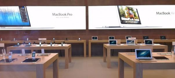 Apple Store Strasbourg : Les produits sont exposés au public
