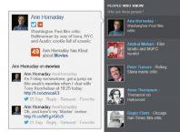 Bing : Klout dans la barre sociale