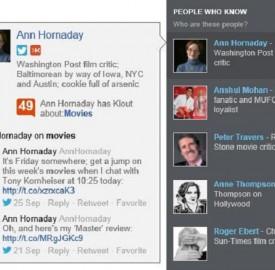 Bing : Intégration de Klout dans la barre sociale