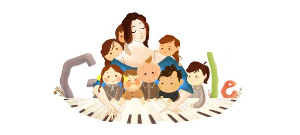 Google : Clara Schumann, la pianiste en doodle