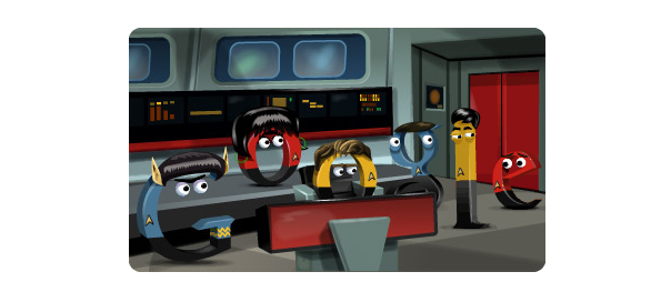 Google : Star Trek, la série originale en doodle