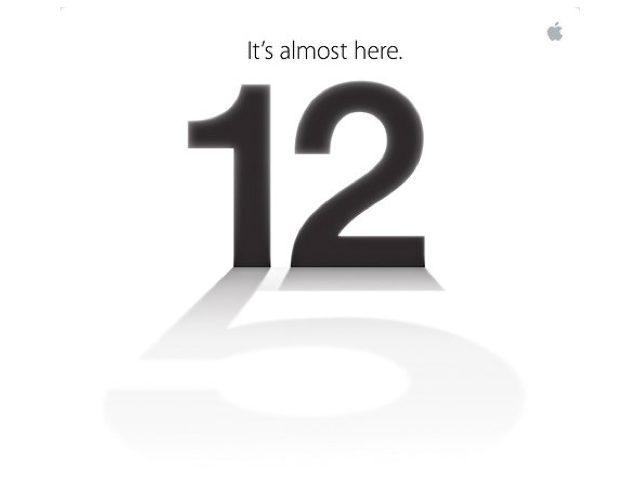 Invitation pour l'annonce de la sortie de l'iPhone 5