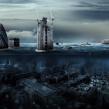 Photoshop : Londres sous les eaux, création graphique