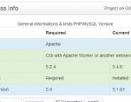 WordPress : Compatibilité de l'hébergement (Apache, PHP & MySQL)