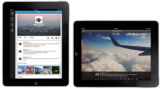 Twitter : Application mobile sur iPad