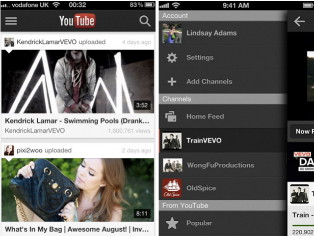 Application YouTube iOS