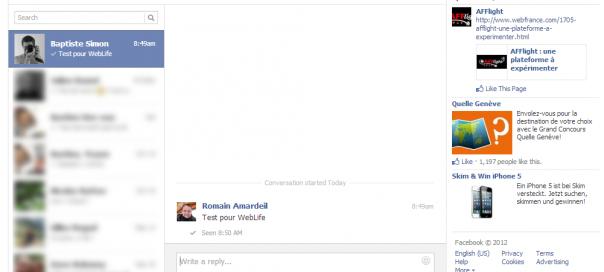 Facebook : Nouvelle messagerie en cours de déploiement