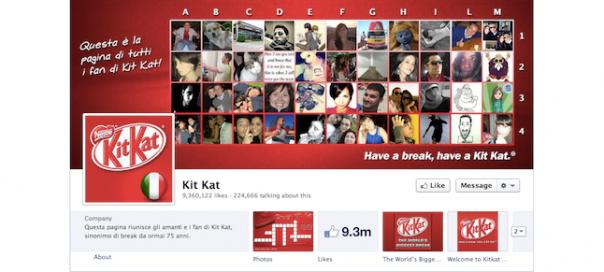 Facebook : Page Kit Kat Italie