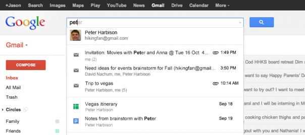 Gmail : Recherche dans Google Drive