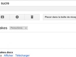Gmail : Recherche dans les pièces jointes