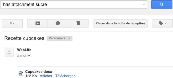 Gmail : Recherche dans le contenu des pièces jointes