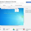 Google Chrome : Bureau à distance en extension