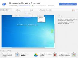 Google Chrome : Bureau à distance