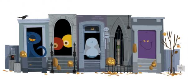 Google : Halloween 2012 en doodle animé