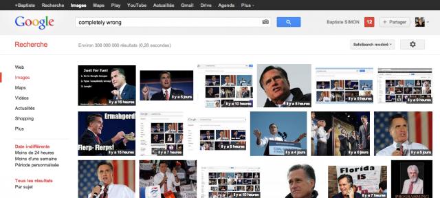 Google Images : Mitt Romney sur la requête