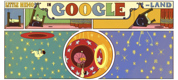 Google : Winsor McCay & sa BD Little Nemo in Googleland