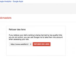 Google : Refuser des liens