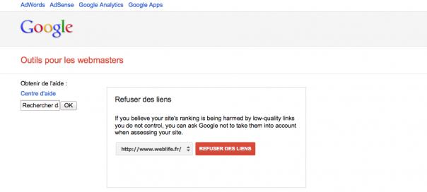 Google : Désavouer les liens entrants contre le negative SEO