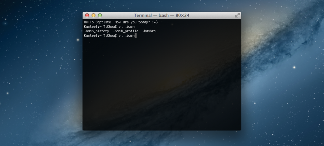 OS X : Terminal