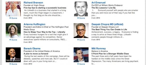 LinkedIn : Suivez les personnalités les plus influentes