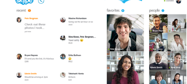 Skype : Sortie de la version Windows 8