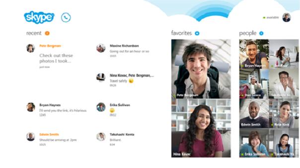 Skype pour Windows 8