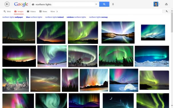 Windows 8 : Google Search