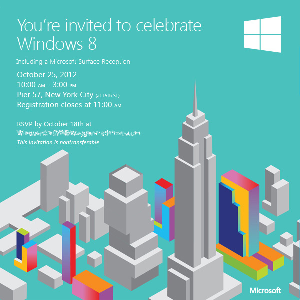 Windows 8 : Invitation