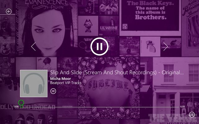 Xbox Music sur Windows 8