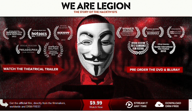 Anonymous : We Are Legion, le documentaire disponible