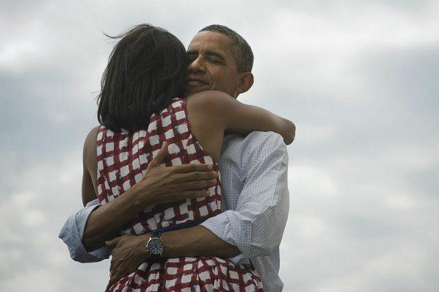 Barack Obama et sa femme