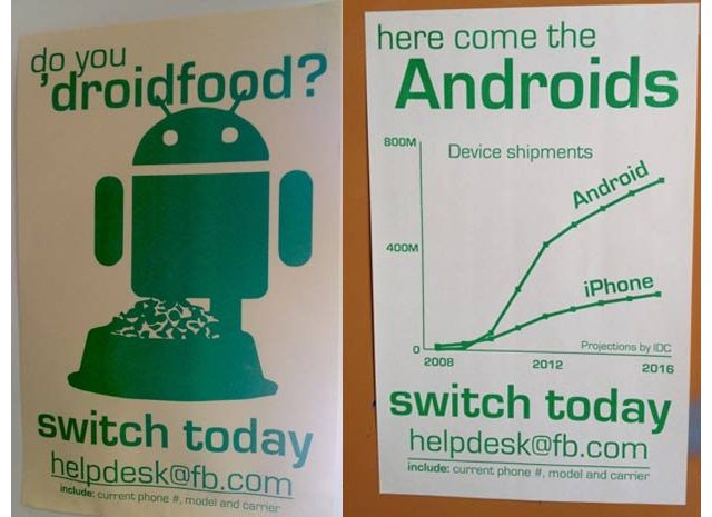 Facebook : Android plébiscité