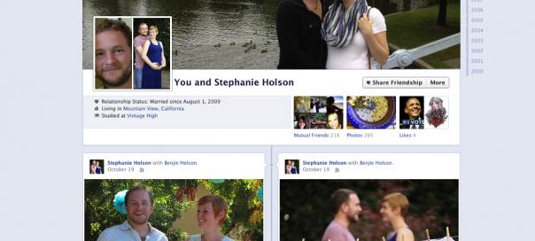 Facebook : Les liens d'amitié en vue journal (timeline)