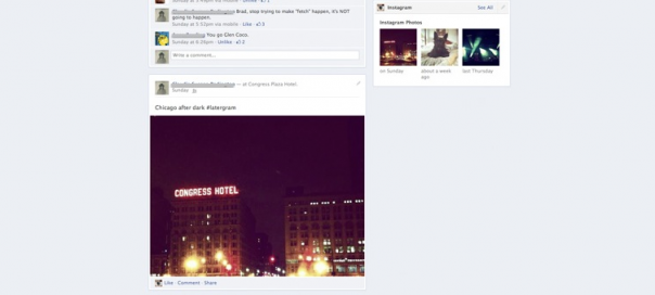 Facebook : Interface utilisateur du journal simplifiée