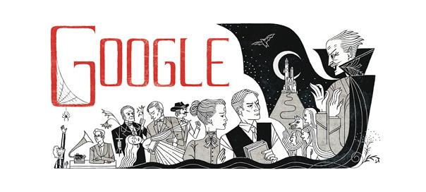 Google : Bram Stoker & Dracula en doodle