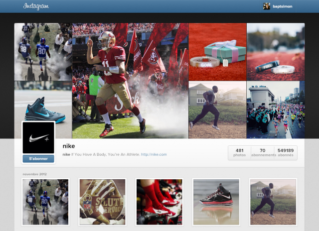 Instagram : Profils utilisateurs