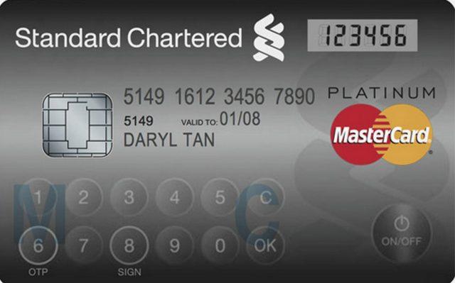 MasterCard : Ecran et Clavier Tactile
