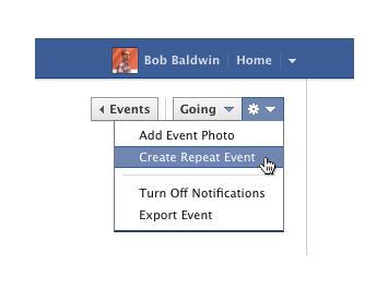 Facebook : Création d'évènements récurrents