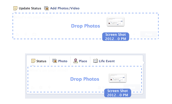 Facebook : Upload de photos par drag & drop