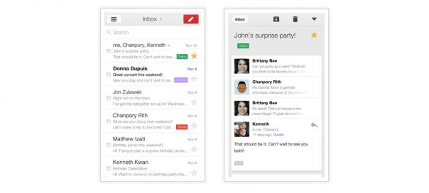 Gmail iOS : Une nouvelle version survitaminée