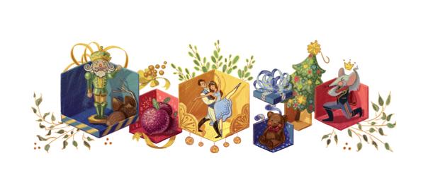 Google : Ballet Casse-noisette de Tchaïkovski en doodle
