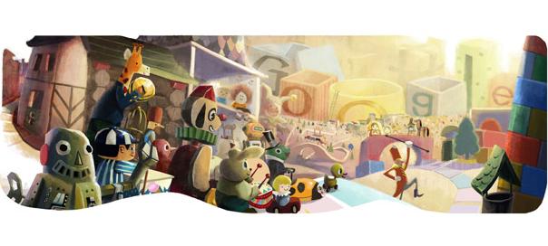 Google : Doodle joyeuses fêtes 2012